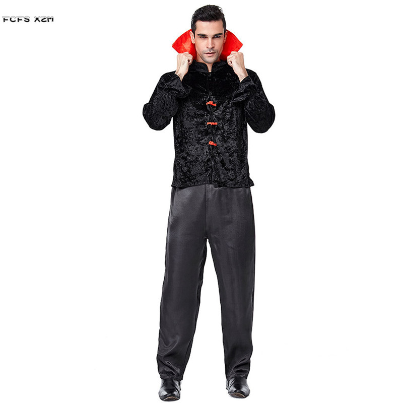 Adult Men Vampire Cosplays Halloween Dracula Scary costumes Purim Carnival parade Masquerade Nightclub Bar Role play Party dress