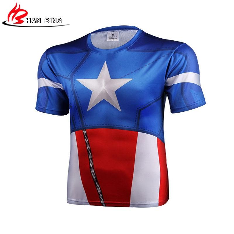 Tee camiseta capitão América escudo guerra civil de 3 d impressão T-shirt  de manga curta homem Marvel avengers 3 lado masculino da aptidão dos homens  S-4XL f73ab2aa23b6e