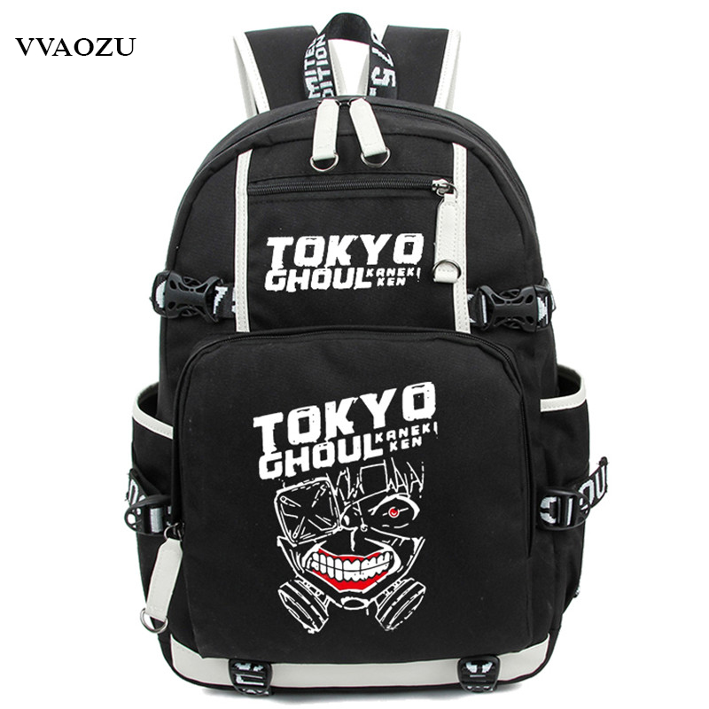 High Quality Tokyo Ghoul Backpacks Luminous Nylon School Bags Backpack for Teenagers Backpack Women Men Bagpack Mochilas