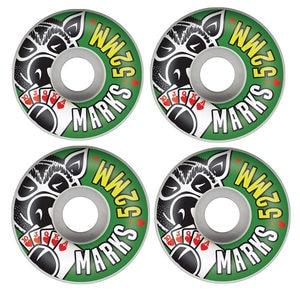 Image 1 - USA MERK MEISJE VARKEN 4 stks/set Pro 50 & 52 & 53 & 54 & 55mm VS kleur veranderd skateboard Wielen voor Ruedas Patines Plastic Rodas Skate