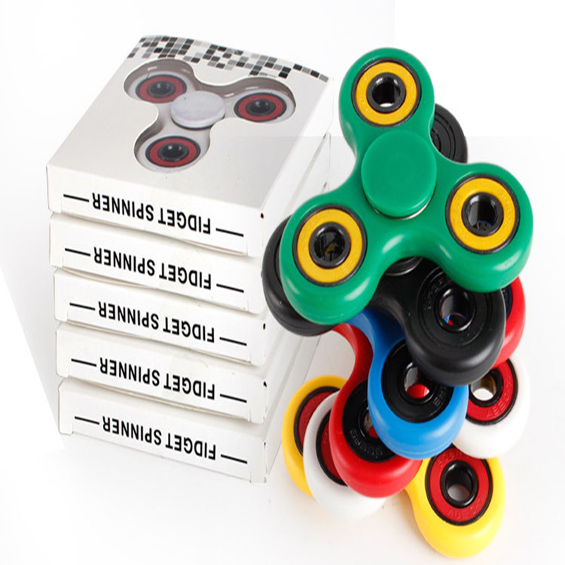 High Quality Bearings Tri-Spinner Fidget Toy Hand Spinner Tri Spinner Fidget Spinner For Autism ADHD Toys Desk Toy Ramdom Color