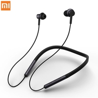 Original Xiaomi Mi Neckband Collar Earphone Magnetic With Mic Sports Hybrid Dual Driver Skin Care Light Leisure Bluetooth 4.1