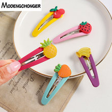 1PCS New Arrival Fruit Lovely Hairpin Strawberry Flower Hair Clip Fashion Hairgrip Barrettes sweet Bangs Accessories