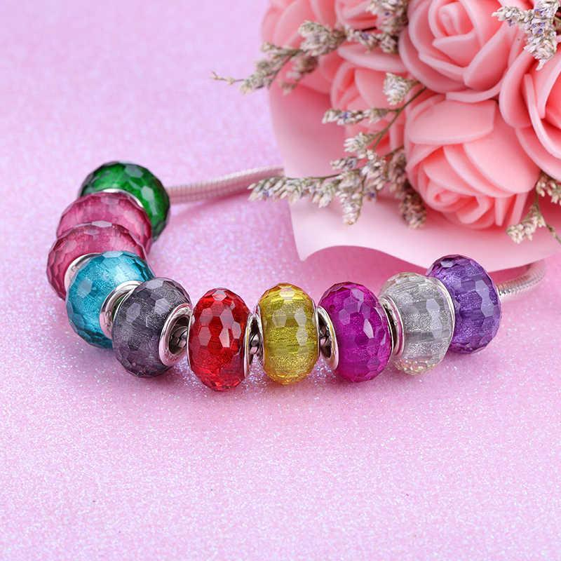 2019 neue Europäische Bunte Murano Glas Perlen Murano Aolly Charm Bead Fit Pandora Für Mädchen DIY Armbänder Armreifen Frauen Schmuck