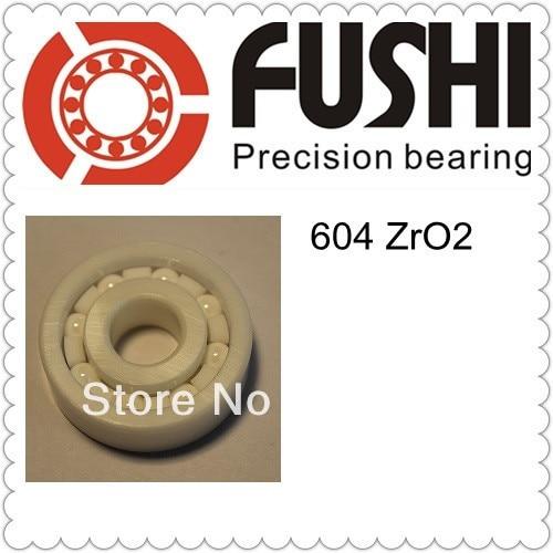 604 Full Ceramic Bearing 1 PC 4 12 4 mm ZrO2 Material 604CE All Zirconia Ceramic