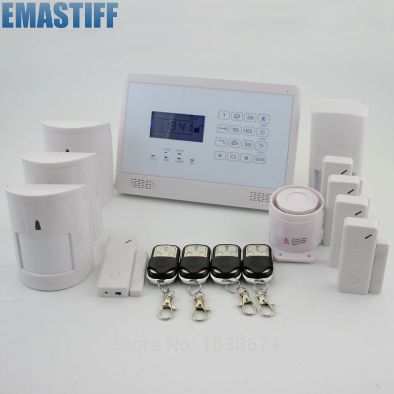 New GSM SMS Home Burglar Security Alarm System Detector Sensor Kit Remote Control home security quad band gsm sms alarm system w detector sensor kit remote control white