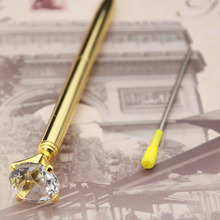 (1 + 1) New Fashion Crystal Ball-point Pen Girl 19 Large One Thousand Tons Of Metal Diamond Wedding Celebration Birthday