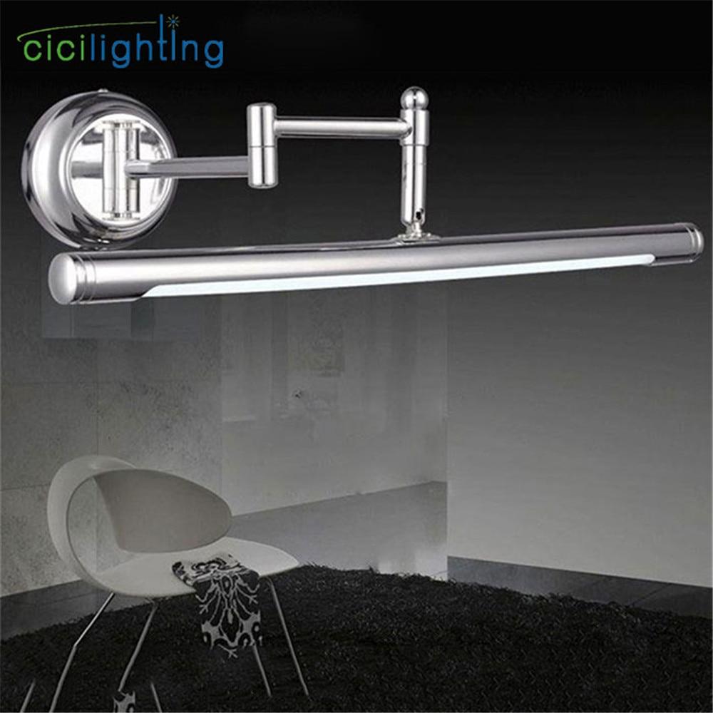 100V - 240V 10W 62cm European stretch adjustable LED cabinet lights bathroom mirror light modern minimalist vanity wall lamp