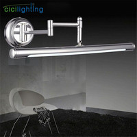 100V 240V 10W 62cm European stretch adjustable LED cabinet lights bathroom mirror light modern minimalist vanity wall lamp