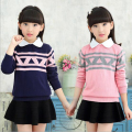 4-15 Y girl new autumn knitting wool long-sleeved sweater cotton clothes children cartoon clothing baby girl