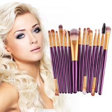15Pcs 7 Colors Professional Eyeshadow Eyelash Brush Cosmetic Kits Eye Powder Makup Brushes Lipstick Eyes Face Makeup Beauty Tool