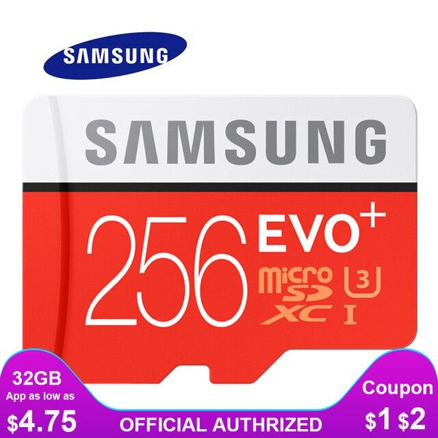 Cartão De Memória SAMSUNG Micro SD 256 GB GB 64 32 GB 128 GB 512G SDHC SDXC Classe EVO + classe 10 C10 UHS Microsd TF Cartões SD Trans Flash
