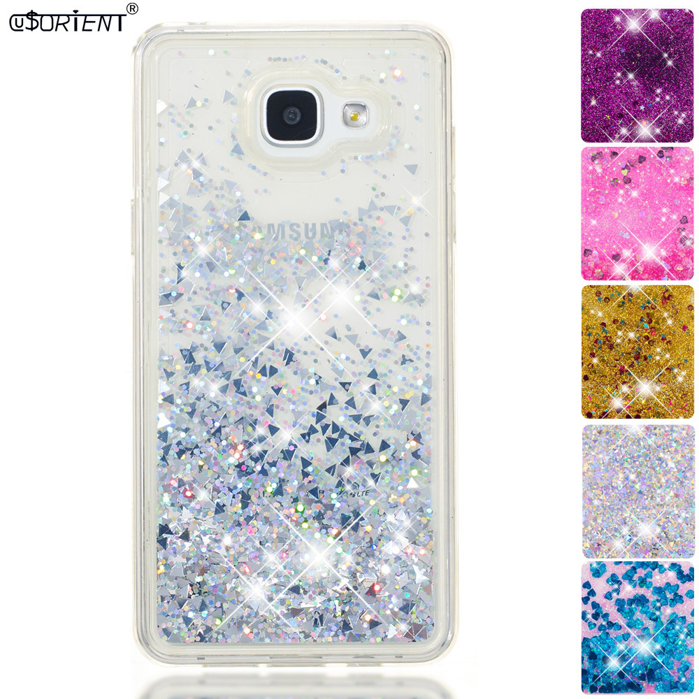 Phone Bags & Cases Half-wrapped Case For Samsung Galaxy A5 2016 A56 Bling Glitter Stars Dynamic Liquid Quicksand Phone Case Sm-a510f/ds Sm-a510x Fitted Cover Funda Good Companions For Children As Well As Adults