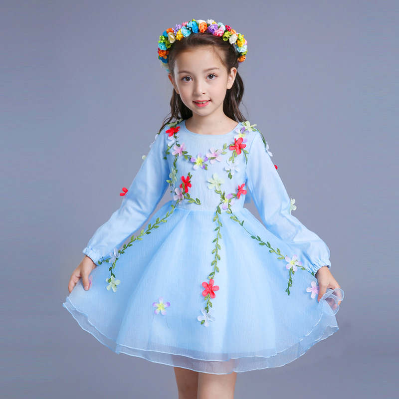 fancy baby girl dress autumn winter 2017 tutu princess dresses pink blue for flower girl christmas clothes little girls clothing birthday pink tutu dresses 1st newborns baby girl romper tutu dress set toddler infantil roupas de bebe baby clothes nb 24 month