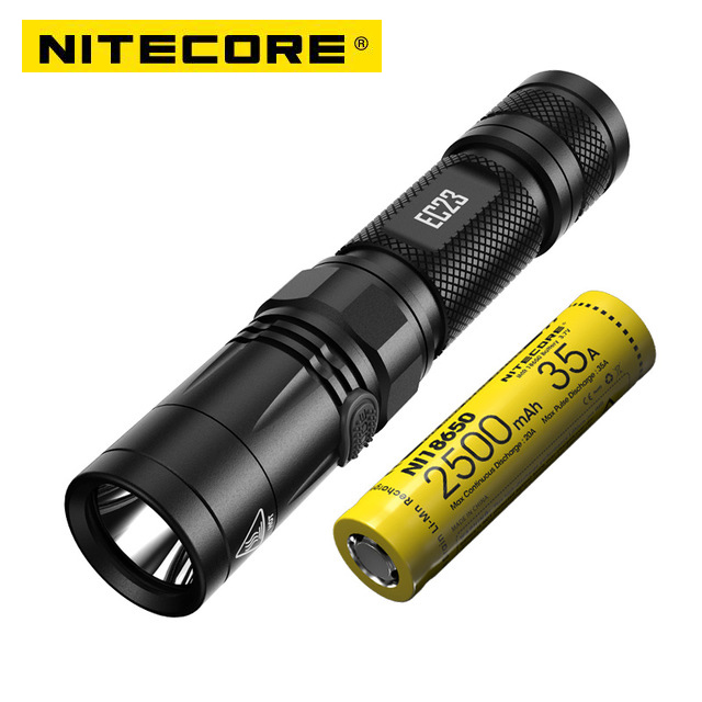 NITECORE EC23 8 Modes 1800 Lumens CREE XHP35 HD E2 LED Flashlight Waterproof Outdoor Camping Hiking Portable Torch Free Shipping nitecore ec20 cree xm l2 t6 led flashlight 960lumen waterproof 18650 outdoor camping hiking hunting portable torch free shipping