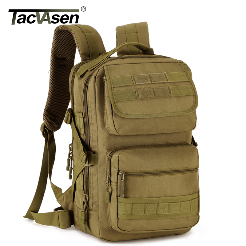 TACVASEN Men's Laptop Backpack Military Camouflage Molle Backpack 25L Travel Knapsack Casual School Bags TD-SHZ-007 tacvasen 35l waterproof molle men backpack military 3p backpacks camouflage army travel bags school backpack td shz 009