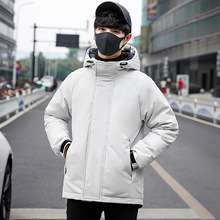 Warm Winter Jacket Parkas Men Casual Fur Collar Hood Military Overcoat Windproof White Duck Down Coat Plue size 5XL
