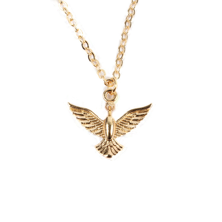 Classic retro bronze metal swallow necklace sweater long chain fashion alloy silver gold bird pendant necklace simple alloy golden necklace delicate jewelry for women party aloadofball Images