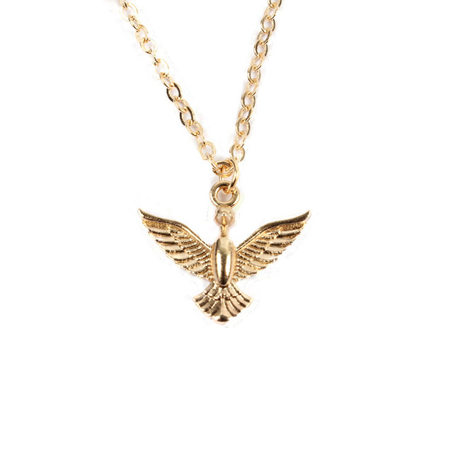 Fashion alloy silver gold bird pendant necklace simple alloy golden fashion alloy silver gold bird pendant necklace simple alloy golden necklace delicate jewelry for women party aloadofball Gallery
