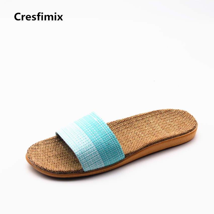 Cresfimix zapatillas de mujer women fashion comfortable slip on slides lady casual outside beach slippers female cute slippers cresfimix women fashion high quality comfortable slippers lady casual pink beach slip on slippers female leisure soft slippers