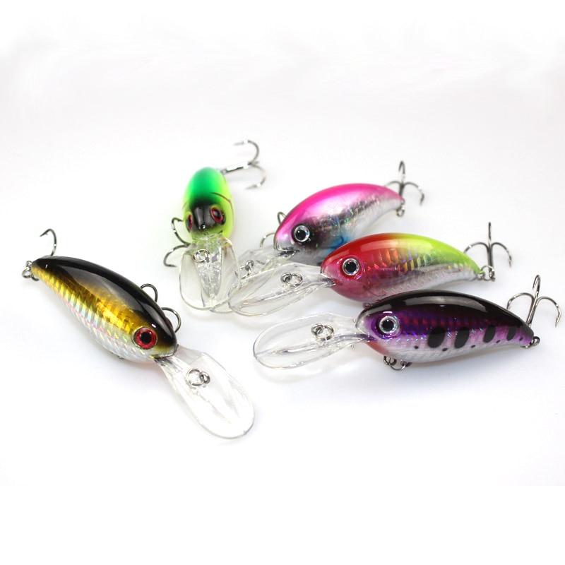 5 colores manivela pesca señuelo kit 10 cm 14.8 g plástico duro - Pescando