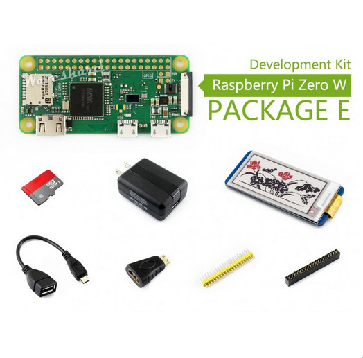 Raspberry Pi Zero W (built-in WiFi) Development Kit Type E, Micro SD Card, Power Adapter, 2.13inch e-Paper HAT, and Basic Compon bertsch power and policy in communist systems paper only