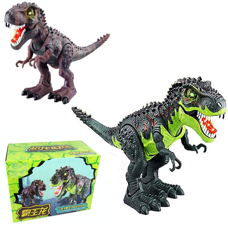 Electronic Tyrannosaurus rex With Sound&Led Light PVC Action Figure Toys Jurassic World Children Dinosaur Model Play Juguetes dinosaur transformation plastic robot car action figure fighting vehicle with sound and led light toy model gifts for boy