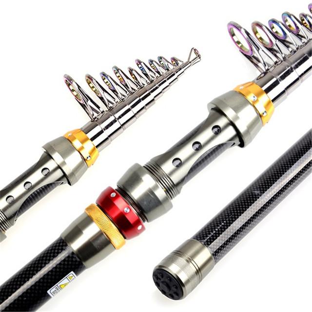 Collapsible Super Hard Carbon Fiber Telescopic Fishing Rod.