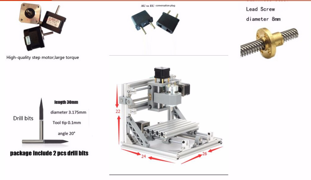 1610 Mini CNC Machine +5500mw Laser GRBL 5500mw Laser Engraving  Machine,3Axis PCB milling Machine Wood Router for CNC Rounter