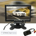 2015 Wireless 7inch LCD Monitor 18 LED IR Rearview Reversing Camera Night Version Kit