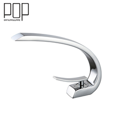 POP Modern Oil Brushed Bronze Bathroom Sink Faucet, contemporary brass vanity faucet Chrome Finish Basin Mixer water tap