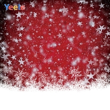 Yeele Christmas Fallen Snow Nice Glitter China Red Photography Backdrops Personalized Photographic Backgrounds For Photo Studio