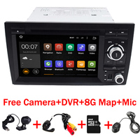 2017 NEW 2Din Car DVD Android 6.0 for Audi A4 Android 2002 2008 year with Wifi 4G GPS Bluetooth Radio RDS USB SD Free 8GB Map