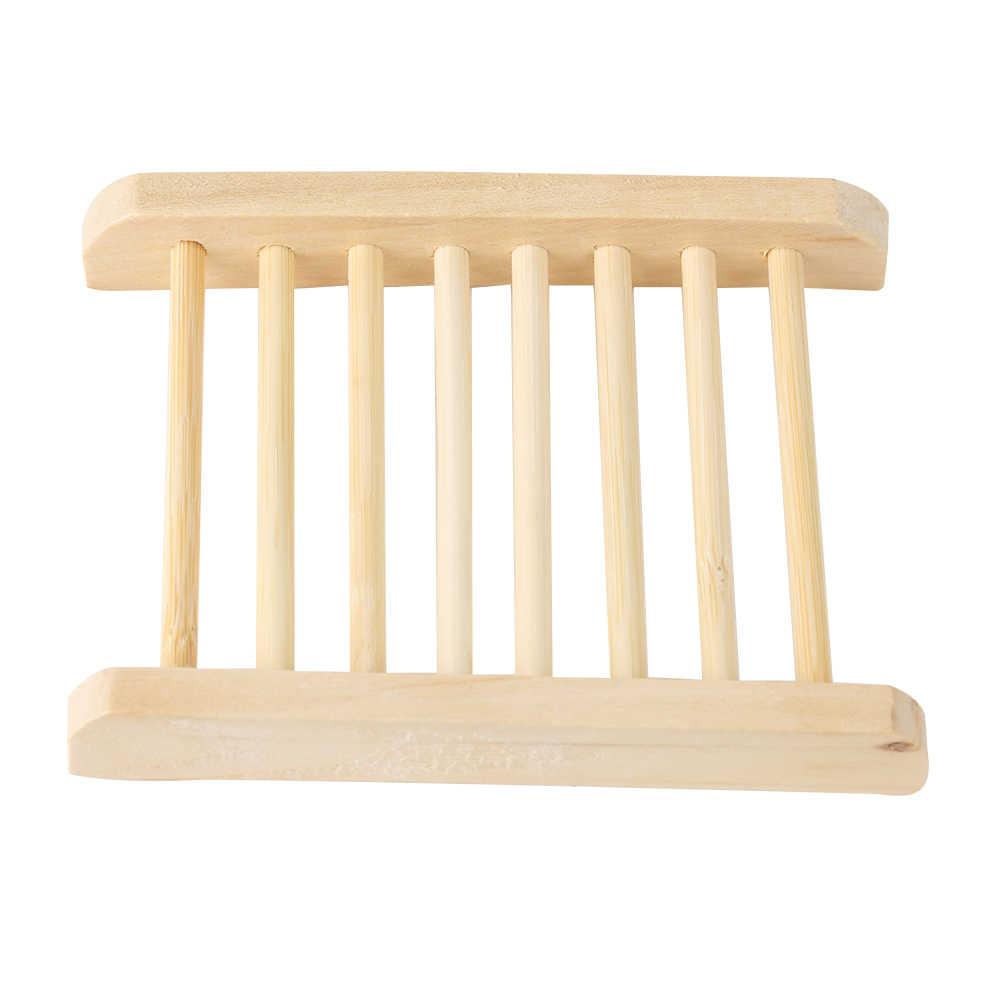 1PC nowy przydatne naturalne drewno silne mydelniczka łazienkowa spustowy tacka płyta gąbka stojak do przechowywania w domu