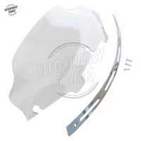 6 Clear Motorcycle Windshield And Chrome Slotted Stock Batwing Trim Case For Harley Electra Street Glide