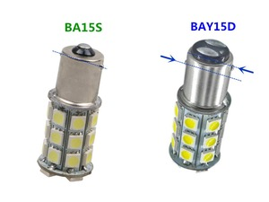 Image 1 - BA15S Strobe BAY15D 1156 פלאש 1157 5050 27SMD תמיד בהיר ba15s 24V הפעל אות StrobeTaillight היפוך אור BAY15D