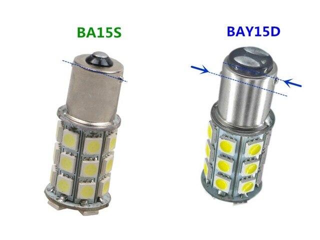 BA15S Strobe BAY15D 1156 פלאש 1157 5050 27SMD תמיד בהיר ba15s 24V הפעל אות StrobeTaillight היפוך אור BAY15D
