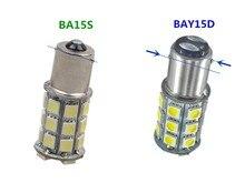 Clignotant stroboscopique BA15S BAY15D 1156 flash 1157 5050 27SMD, signal clignotant toujours lumineux ba15s 24V, lumière de recul