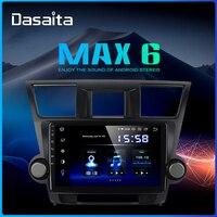 Dasaita 10.2 IPS 1 Din Car Radio Player Android 9.0 for Toyota Highlander 2009 2010 2011 2012 Navigation HDMI MP3 64GB ROM