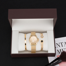 Women bracelet watches set with big gift watch box 2019 new ZONMFEI Brand 3 PCS wristwatch bracelet set gift for good friend hot