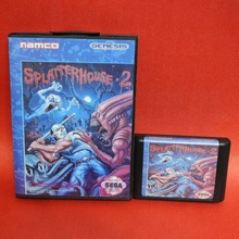 SplatterHouse 2 16 bit MD card with Retail box for Sega MegaDrive Video Game console system