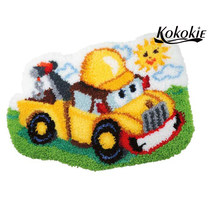 3d cartoon car printed floor mat diy latch hook kits rug tapestry kit crochet tapis needle for carpet Foamiran for crafts(China)