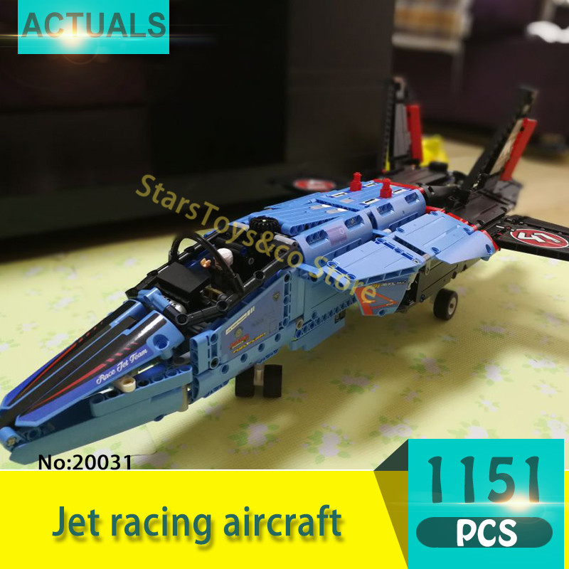 Lepin 20031 1151Pcs Technic Series  Jet racing aircraft Model Building Blocks Set  Bricks Toys For Children Gift lepin decool 3105 130pcs deformation series super aircraft model building blocks bricks toys for children wange gift