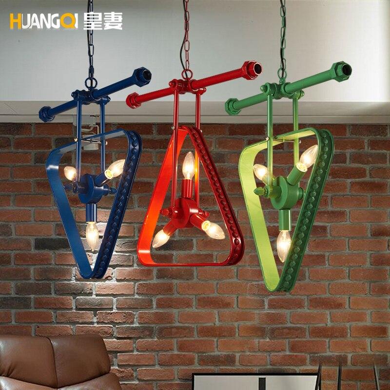 где купить American country Loft retro industrial restaurant water pipe hanging room pendant light по лучшей цене