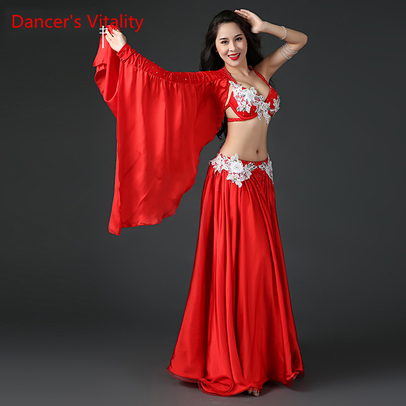 Women Professional Belly Dance Costume Set Luxury Bellydance Costumes Stage Performance Diamond Decoration Bras & Skirt Set