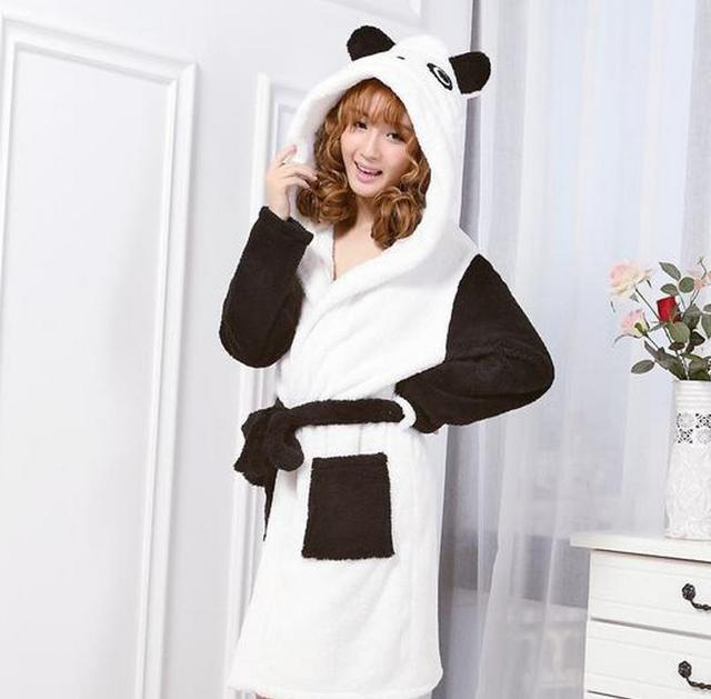 970ebeada9 (1PCS Lot) Women s Bathrobe Cute robes cartoon animal Size S M L Microfiber  bathrobe 4 colors Super soft   nice