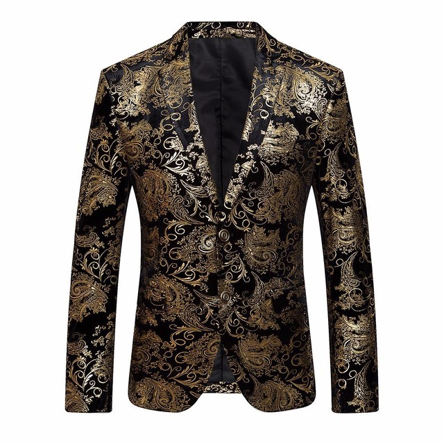 0510e0336e4 Men s Dress Floral Suit Notched Lapel Slim Fit Stylish Blazer Coat Jacket  Z10