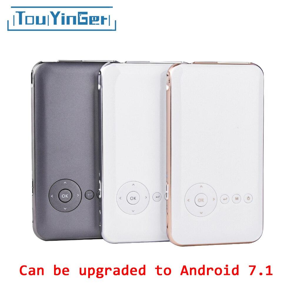 5000 мАч touyinger everycom S6 плюс мини карманный проектор dlp Wi-Fi портативный смартфон проектор Android AC3 Bluetooth