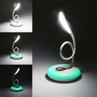 USB Charge Table Lamp RGB LED Light Eyes Protection Soft Desk Light Reading Book Lights Portable Touch Base Switch Intelligent