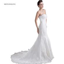 Mermaid Lace Wedding Dresses 2019 Up Sweetheart Neck Modest Gown Bride Dress Court Train vestido de noiva customize